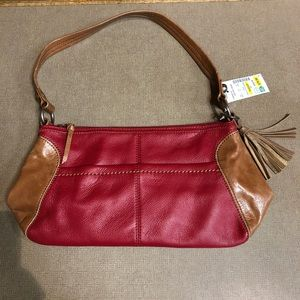 The Sak Iris Small Leather Hobo - Cherry Block
